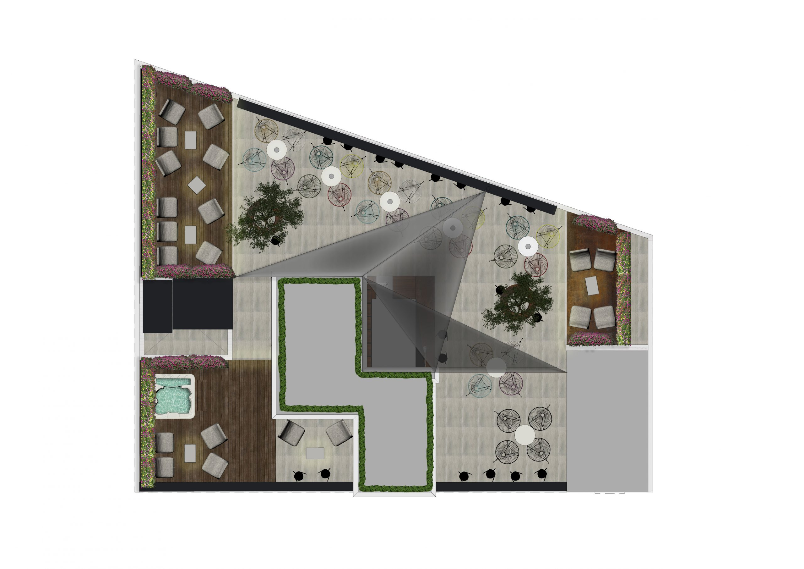 bar on the rooftop plan